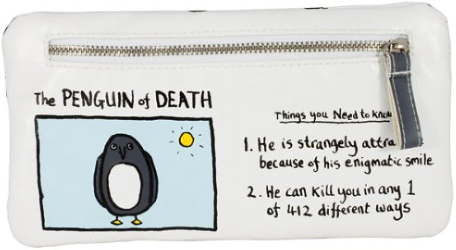 Rainbow Designs EM1088 - Edward Monkton, Estuche con diseño del pingüino de la Muerte [Texto en inglés]: Amazon.es: Ropa y accesorios