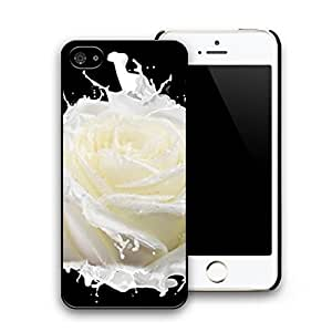 Milk Rose Pattern Hard Plastic Case Cover Skin for iphone 5 iphone 5s