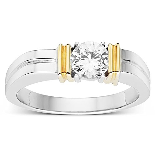 Created Moissanite Gents Ring - 5