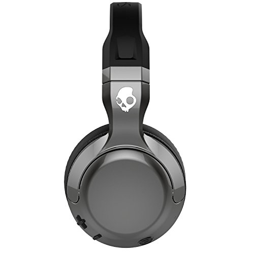 Skullcandy Hesh 2 Bluetooth Wireless Over-Ear Headphones with Microphone, Supreme Sound and Powerful Bass, 15-Hour Rechargeable Battery, Soft Synthetic Leather Ear Cushions, Black/Silver by Skullcandy (Image #5)