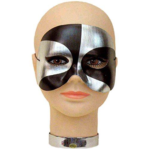 Silver Harlequin Half Mask (PSYCHO HALF MASK)