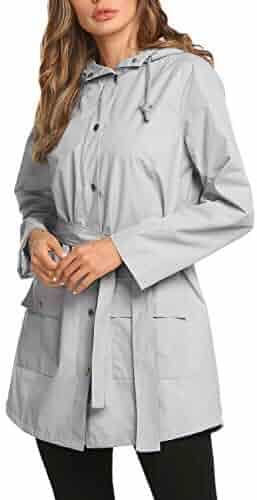 b1d88028f5f5 Raincoat Women Waterproof Outdoor Active Mesh Lining Hooded Rain Trench  Jacket