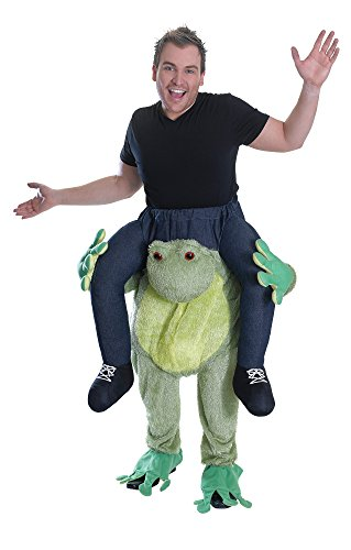 [Adult's Piggy Back Frog Costume] (Piggyback Halloween Costume Ideas)