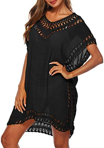 BIKINX Swimsuit Cover Ups for Women Bathing Suit Coverups Ladies Beach Dress Crochet Bikini Wear
