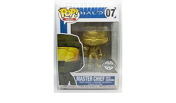 Funko POP! Games: Halo - Master Chief with Cortana (Gold): Amazon.es: Juguetes y juegos