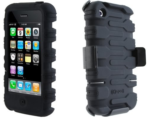 - Speck Products ToughSkin Case Cover W/Belt Clip Holster for iPhone 3G / 3GS Black