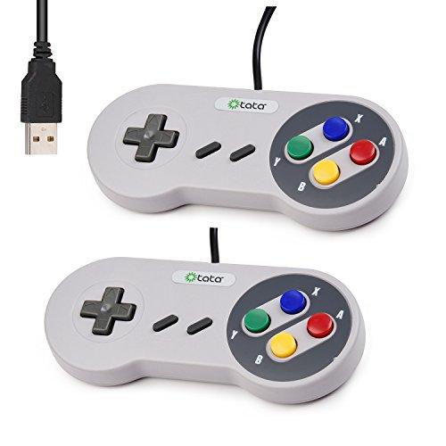 kiwitatá USB SNES Controller,2 Pack Retro Super Nintendo ...