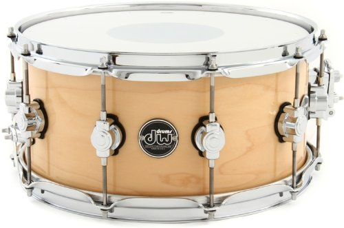 DW Performance Series Snare Drum - 6.5 Inches X 14 Inches Natural Lacquer by DW