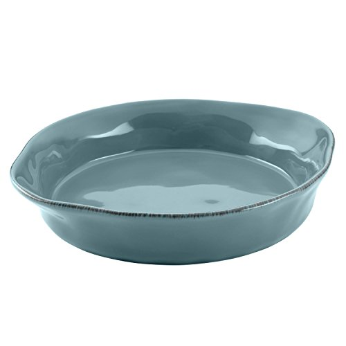 Rachael Ray Cucina Stoneware 3-Piece Round Casserole & Lid Set, Agave Blue by Rachael Ray (Image #2)