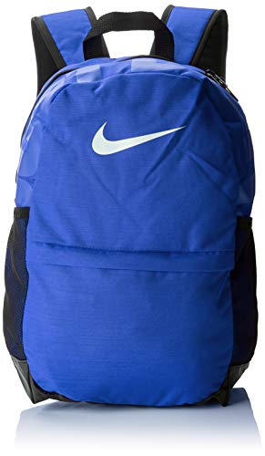 Nike Kids' Brasilia Backpack, Kids' Backpack with Durable Design & Secure Storage, Game Royal/Black/White