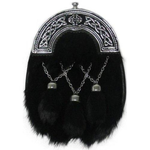 Tartanista Men's Rabbit Scottish Kilt Sporran Enamelled Crossed Chain Tassels