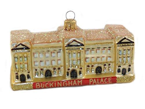 (Buckingham Palace London England Queen Elizabeth Polish Glass Christmas Ornament Travel Souvenir)