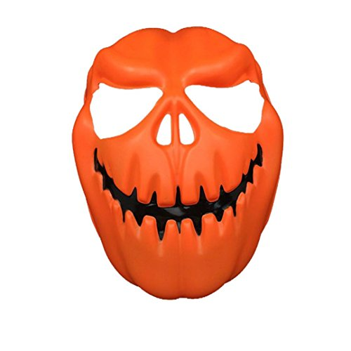 [Halloween Mask, Bigban 1 PC Weird Special Pumpkin Head Halloween Mask OR (Orange)] (Jigsaw Costume Face Paint)