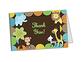 50 jungle thank you cards baby shower birthday party any occasion a6