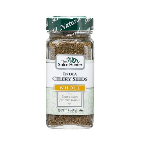 The Spice Hunter Celery Seeds, India, Whole, 1.8-Ounce Jars (Pack of 6)