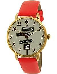 Kate Spade Women's Metro KSW1127 Gold Leather Quartz Watch