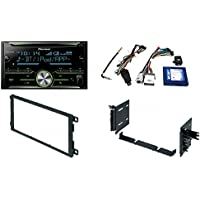 Pioneer FH-X731BT 2-Din CD Receiver with Enhanced Audio Functions + PAC RP5-GM11 GM LAN RADIO REPLACEMENT INTERFACE FOR SELECT GM VEHICLES With Car Radio Stereo CD Player Dash Install Kit