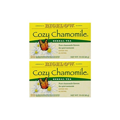 Bigelow Cozy Chamomile Tea Bags, 20 ct (Pack of 2)