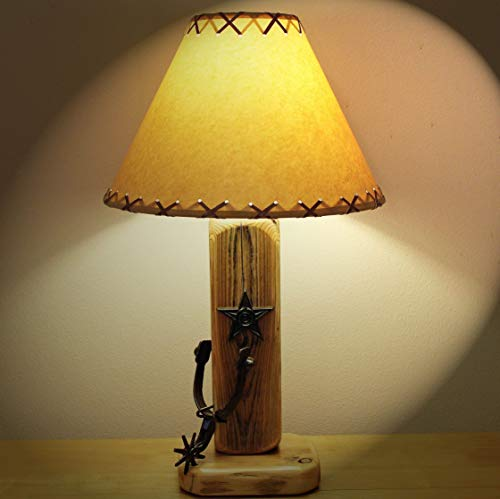 (Rustic Western Decor.The Old El Paso Table Lamp w/Spur and Texas Star and 14