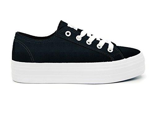 y Australian Para de Lona Mujer blanco negro Zapatillas rqqStY