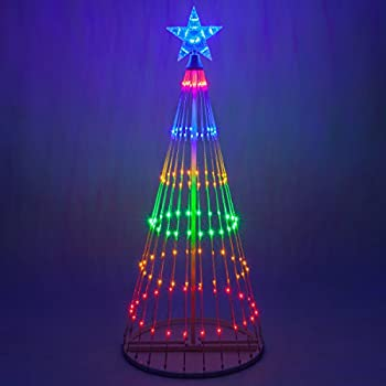 14 function led light show cone christmas tree outdoor christmas decorations 4 - Outdoor Christmas Trees