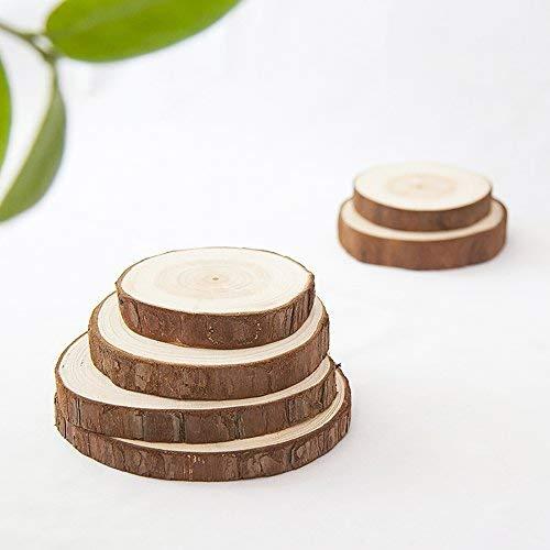 Paquete de 5 Aibada 12 14 cm de Madera Natural rodajas de Discos de Corte Redondo de Madera para decoraci/ón DIY