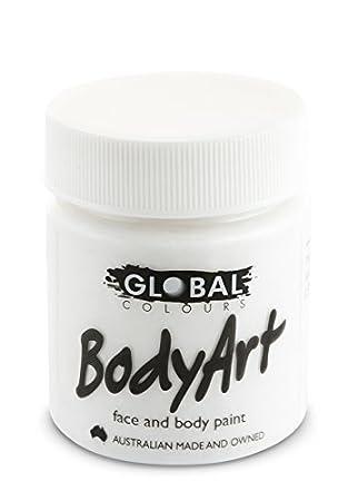 Global Body Art Face Paint Liquid White 45ml