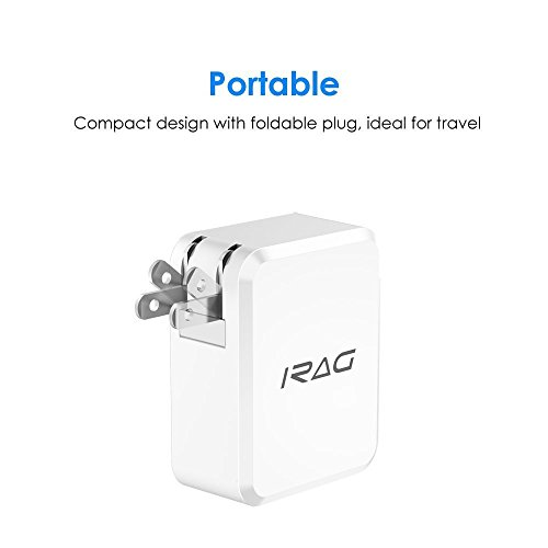 lovely iRAG Charger for Google Pixel/Pixel XL/2/2 XL-24W 4.8A Dual USB Home Wall Charge Adapter with Foldable Plug and 6 FT Type C to A Charging Cable Cord