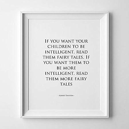 Nursery Wall Art Albert Einstein Childrens Quote If You Want
