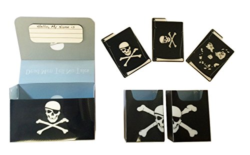 PIRATE FLAG - Skull & Crossbones - MAGNETIC Double Deck BOX plus dividers by MAX PRO - Standard Magic the Gathering (Max Pro Deck Box)