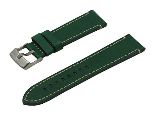 SWISS REIMAGINED Green Hypoallergenic Tanned Calfskin Leather Watch Band...