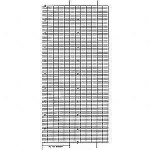 Graphic Controls B9585AH, Strip Chart, Fanfold, Range 0 to 100, 99FT