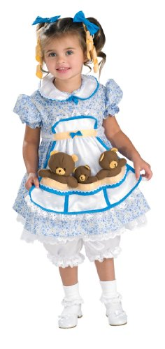 [Cute as Can Be Toddler Costume, Goldilocks] (3 Bears Halloween Costumes)