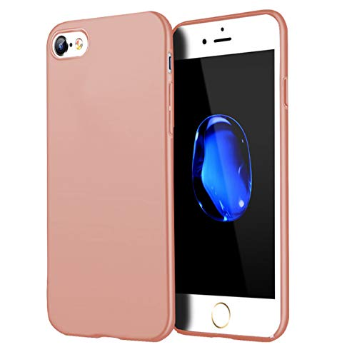 Compatible for iPhone 6 Plus case/iPhone 6S Plus Case,Matte Finish Comfortable Silky Smooth Touch Great Grip Feeling Slim Fit Ultra Thin Hard Plastic Anti-Scratch Anti-Fingerprint Cover-Rose Gold