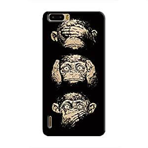 Cover It Up Three monkeys Hard Case for Huawei Honor 6 - Multi Color