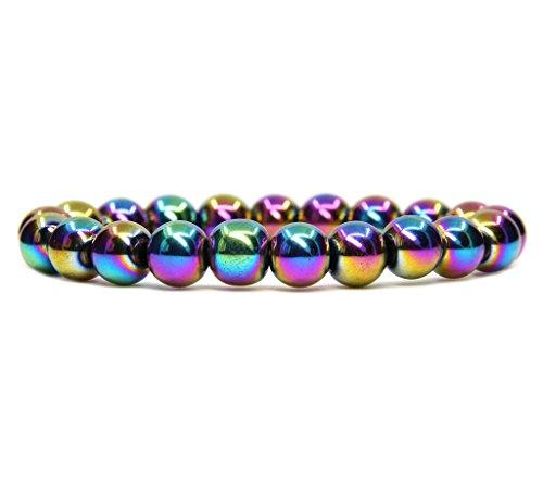 Aqua Beaded Stretch Bracelet - 4