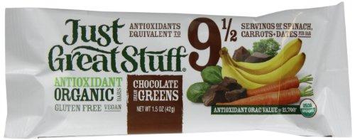 Dream Chocolate Bar - Betty Lou's Inc. Bar, Og, Choc Dream Greens, 1.50-Ounce (Pack of 12)