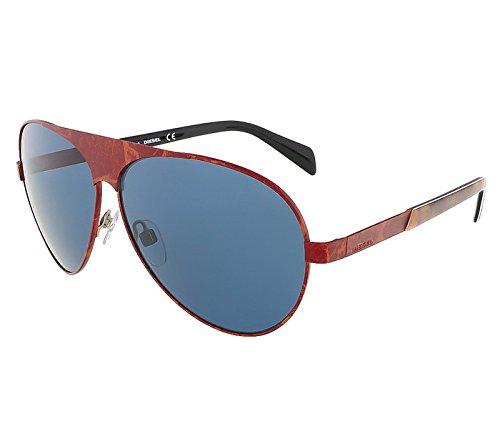Diesel DL0119/S 34V Red Bronze Teardrop Aviator - Diesel Mens Sunglasses