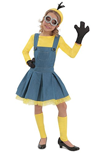 Princess Paradise Minions Girl Jumper Costume, Blue/Yellow, Large - Minions Costume For Girl