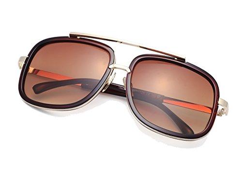1f86be55e Eyerno Retro Aviator Sunglasses For Men Women Vintage Square Designer Sun  Glasses