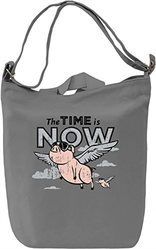 The Time Is Now Borsa Giornaliera Canvas Canvas Day Bag| 100% Premium Cotton Canvas| DTG Printing|