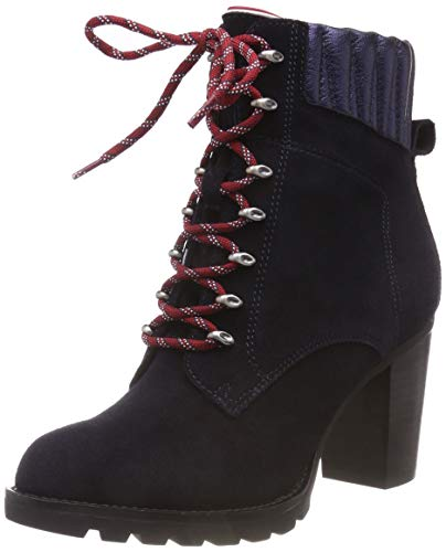 Combat Blue Midnight Women's Heeled Hiking 403 Basic Suede Boot Tommy Hilfiger nxBq048wwS