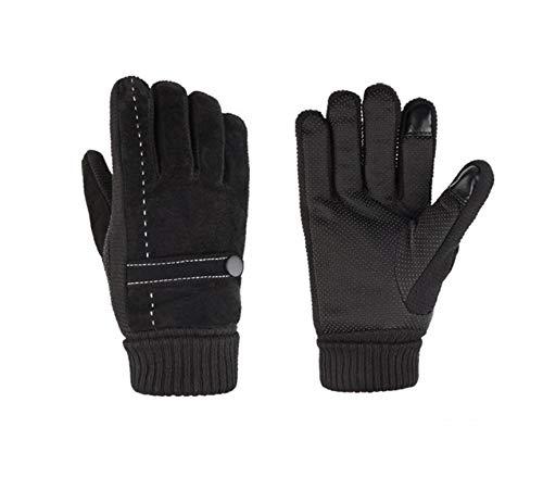 Coupe Froid Épais Noir Air Gants Tactile Resistant Écran Femmes Plein Amdxd Velours De vent Équitation SwRq60xz
