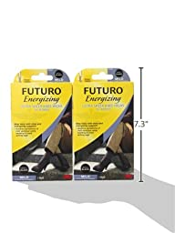 Futuro Ultra Sheer Knee Highs for Women, Small, Black (Pack of 2)