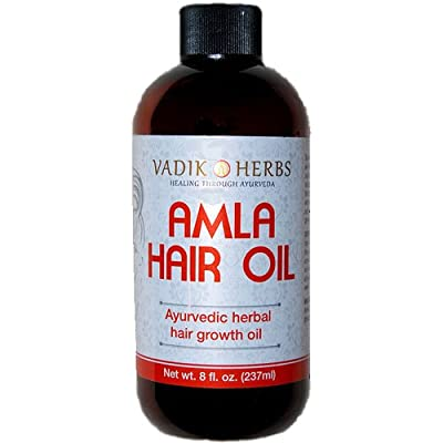 Amla Hair Oil (8 oz)- Ayurvedic herbal hair growth oil ~ Herbal scalp treatment ~ Great for hair loss, balding, thinning of hair, for beard growth, made with Amla (Amalaki) - Indian gooseberry