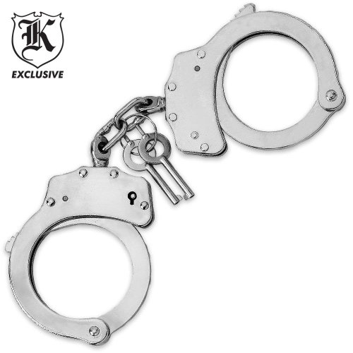 Double Lock Chrome Finish Handcuffs