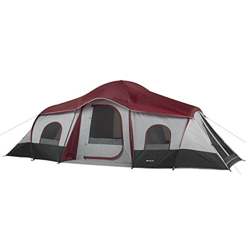 OZARK Trail 10-Person 3-Room Cabin Tent with side entrances (Trail Person 2 Tent)