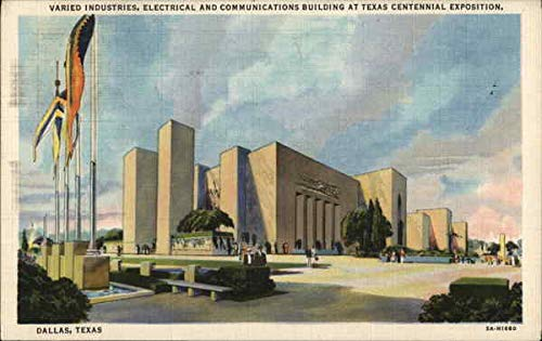 Varied Industries, Electrical and Communications Building at Texas Centennial Exposition Original Vintage Postcard from CardCow Vintage Postcards