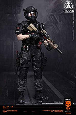 1//6 scale toy SWAT Assault Driver Black Radio w//Headphones