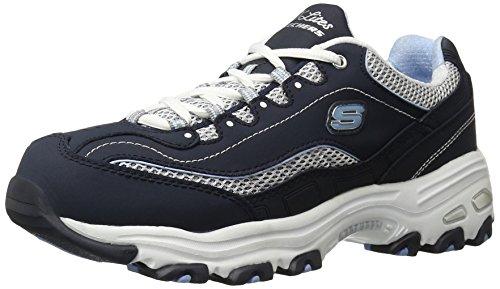 (Skechers Sport Women's D'Lites Centennial Sneaker, Navy/White Centennial, 8.5 M)